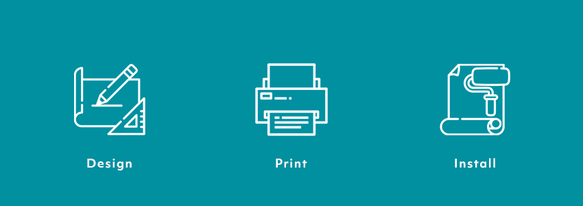 Wallpaper printing and installation process - TCS